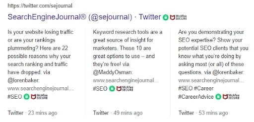 Twitter of Search Engine Journal.