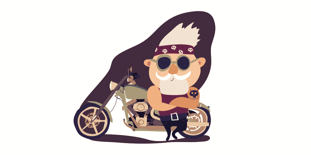 Motorcycle Rider Illustration - Play Media