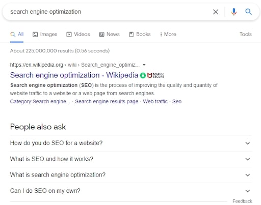 SERP SEO Related Questions (People Also Ask)